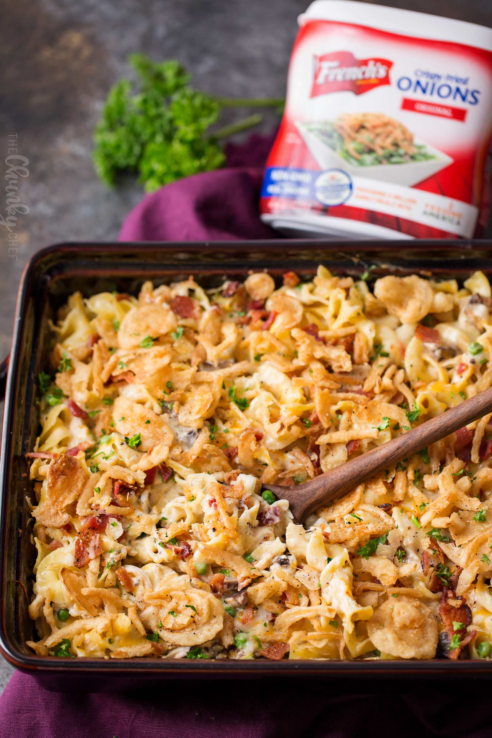 Chicken And Noodles Casserole  Loaded Cheesy Chicken Noodle Casserole The Chunky Chef