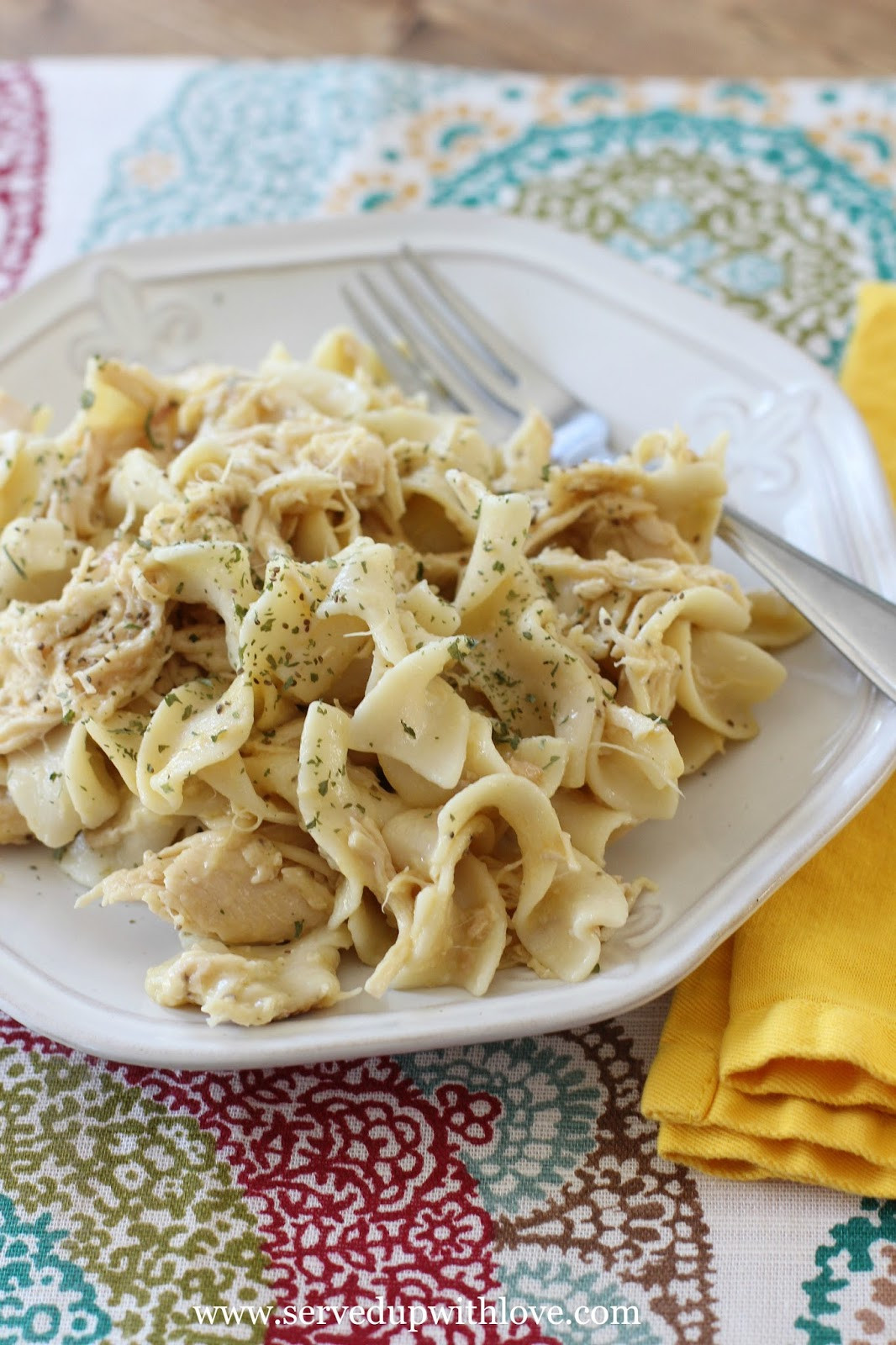Chicken And Noodles Crock Pot  Served Up With Love Crock Pot Chicken and Noodles