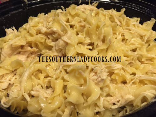 Chicken And Noodles Crock Pot  CROCK POT CHICKEN AND NOODLES The Southern Lady Cooks