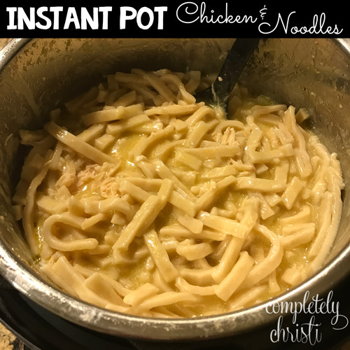 Chicken And Noodles Instant Pot  Instant Pot Chicken and Noodles Recipe pletely Christi