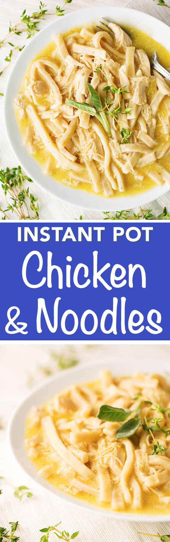 Chicken And Noodles Instant Pot  Instant Pot Chicken and Noodles
