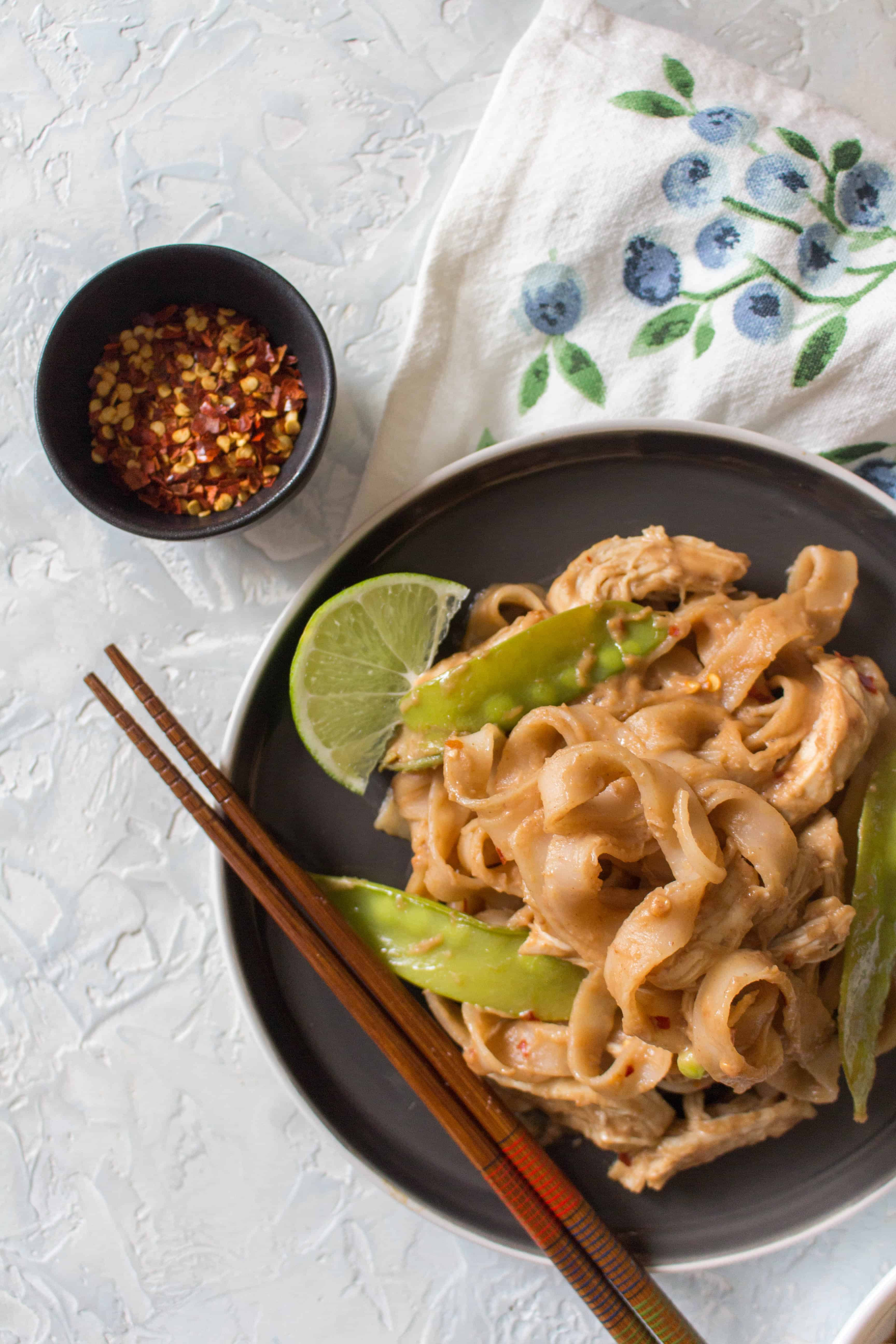 Chicken And Noodles Instant Pot  Healthy Instant Pot Thai Peanut Chicken and Noodles