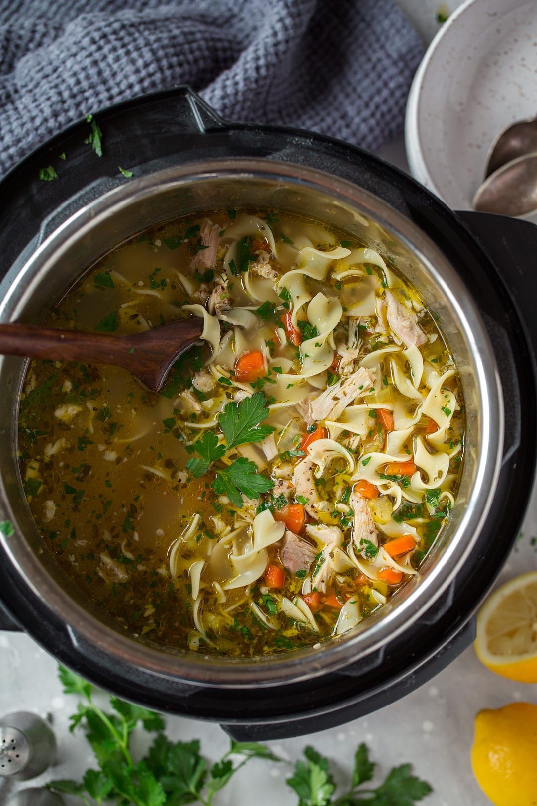 Chicken And Noodles Instant Pot  Instant Pot Chicken Noodle Soup Cooking Classy