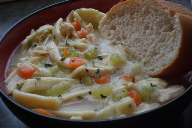 Chicken And Noodles Over Mashed Potatoes  Chicken Noodle Soup Over Mashed Potatoes Recipe Food