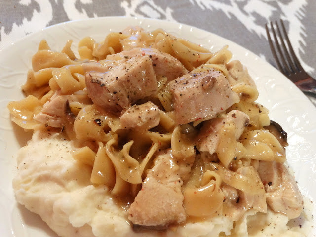 Chicken And Noodles Over Mashed Potatoes  Pam s Midwest Kitchen Korner Midwestern Chicken and