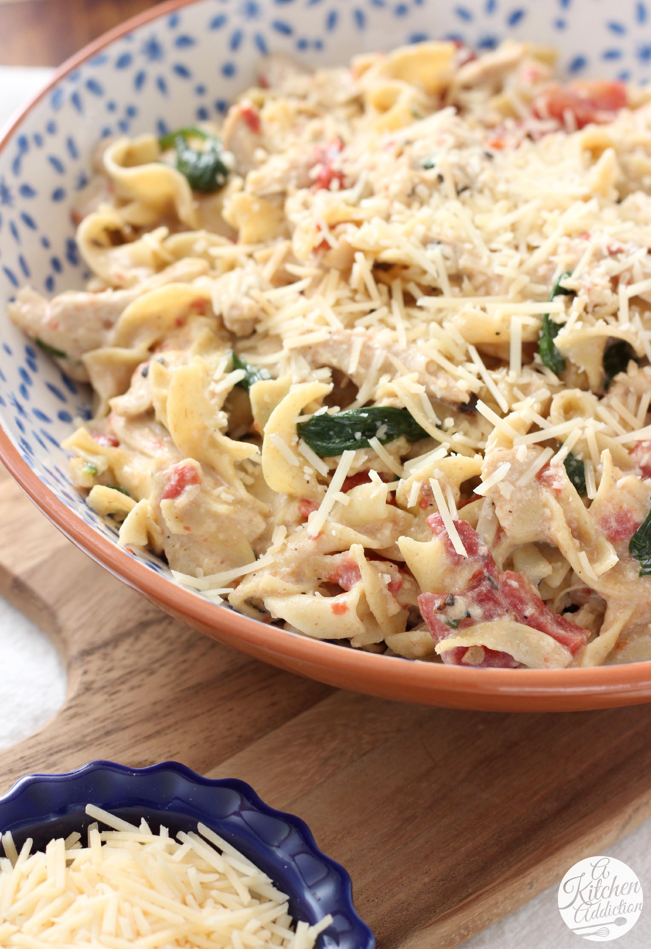 Chicken And Noodles Recipe  Creamy Garlic Parmesan Chicken and Noodles $100 Visa