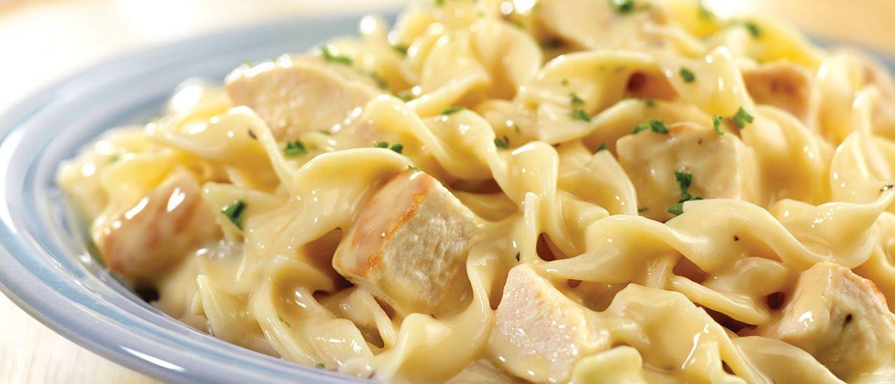 Chicken And Noodles Recipe  Quick Creamy Chicken & Noodles Recipe