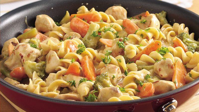 Chicken And Noodles Recipe  Chicken and Noodles Skillet Recipe BettyCrocker