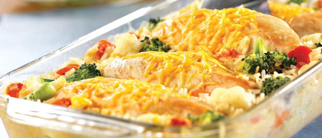 Chicken And Rice Casserole Recipes  Cheesy Chicken & Rice Casserole Recipe