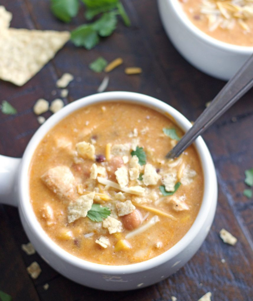 Chicken And Rice Soup Instant Pot  Instant Pot Chicken Enchilada Soup Stovetop 5 Boys
