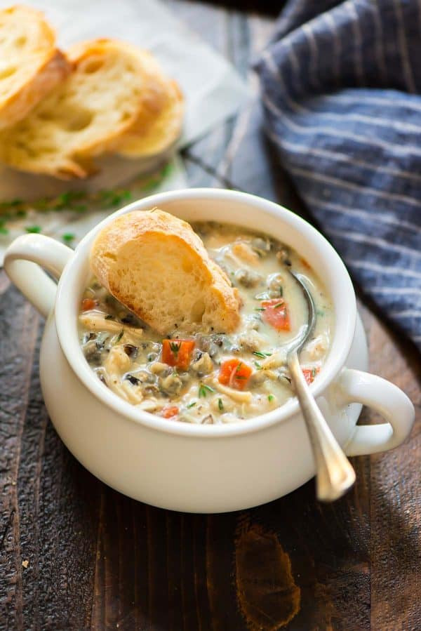 Chicken And Rice Soup Instant Pot  Creamy Chicken and Wild Rice Soup