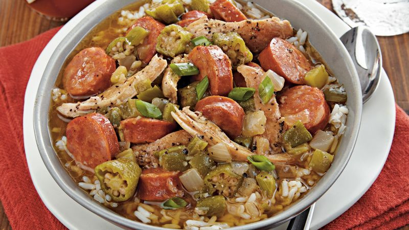 Chicken And Sausage Gumbo  Slow Cooker Chicken and Sausage Gumbo Recipe