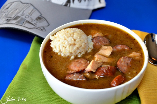 Chicken And Sausage Gumbo  CAJUN CHICKEN SAUSAGE GUMBO WORTH EVERY MINUTE