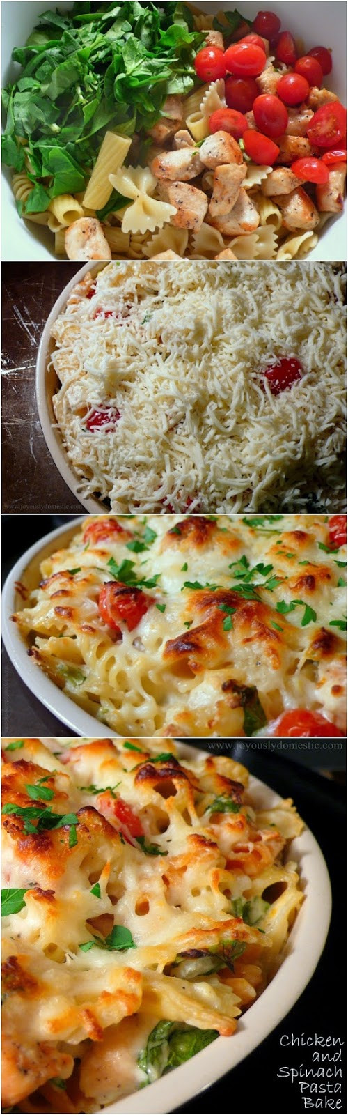 Chicken And Spinach Casserole  all things katie marie Chicken & Spinach Pasta Bake
