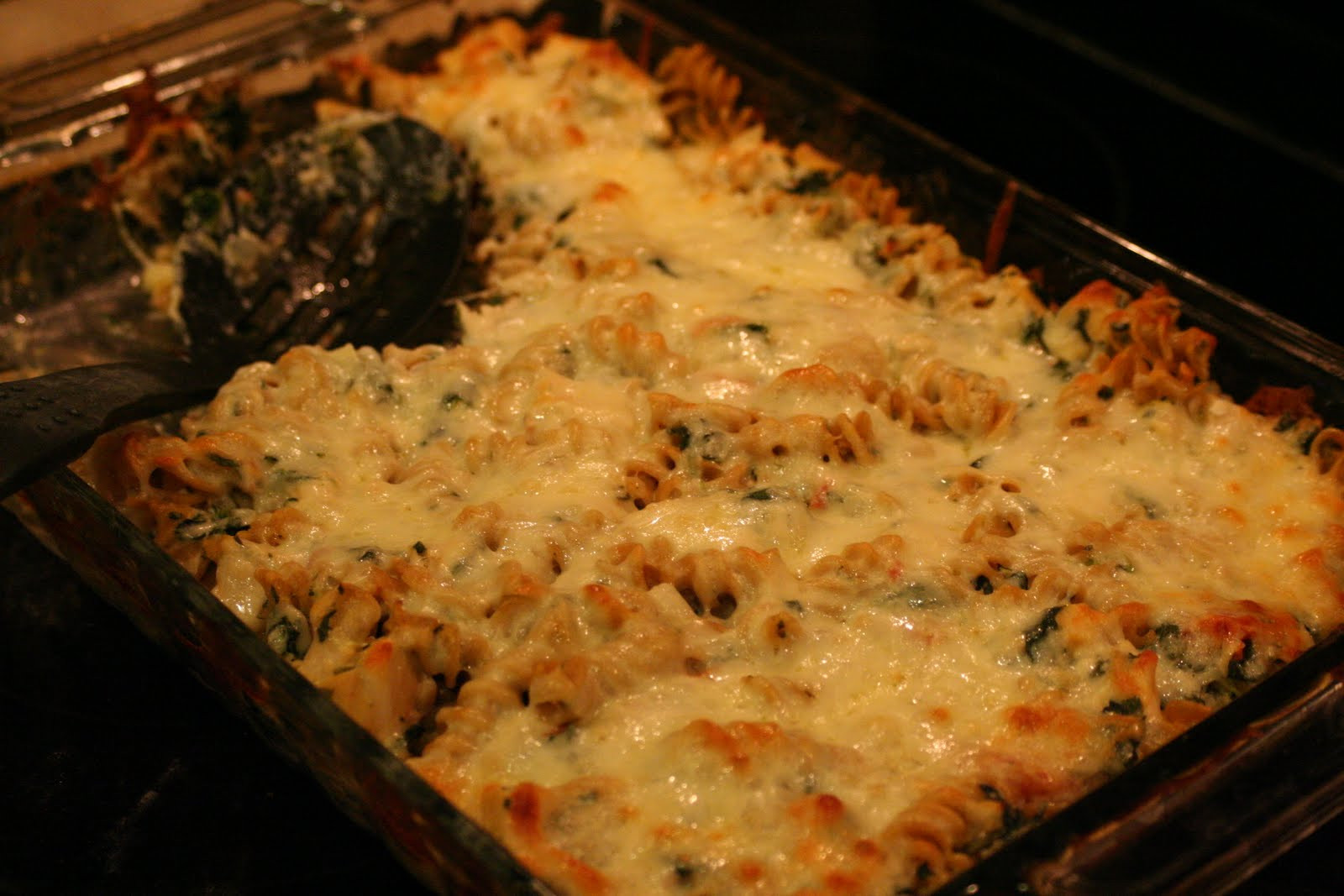 Chicken And Spinach Casserole  Cooking Claire Chicken and Spinach Pasta Bake