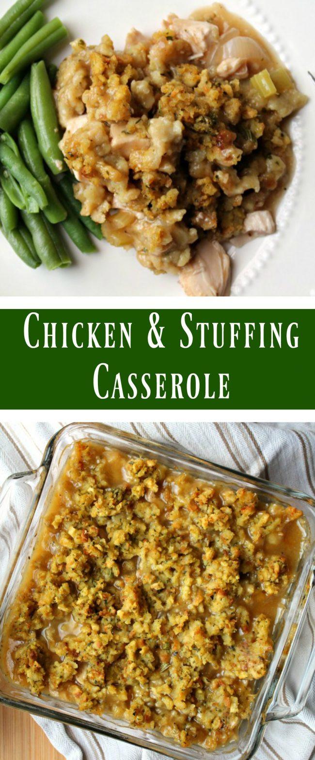 Chicken And Stuffing Casserole  Chicken and Stuffing Casserole Foody Schmoody Blog