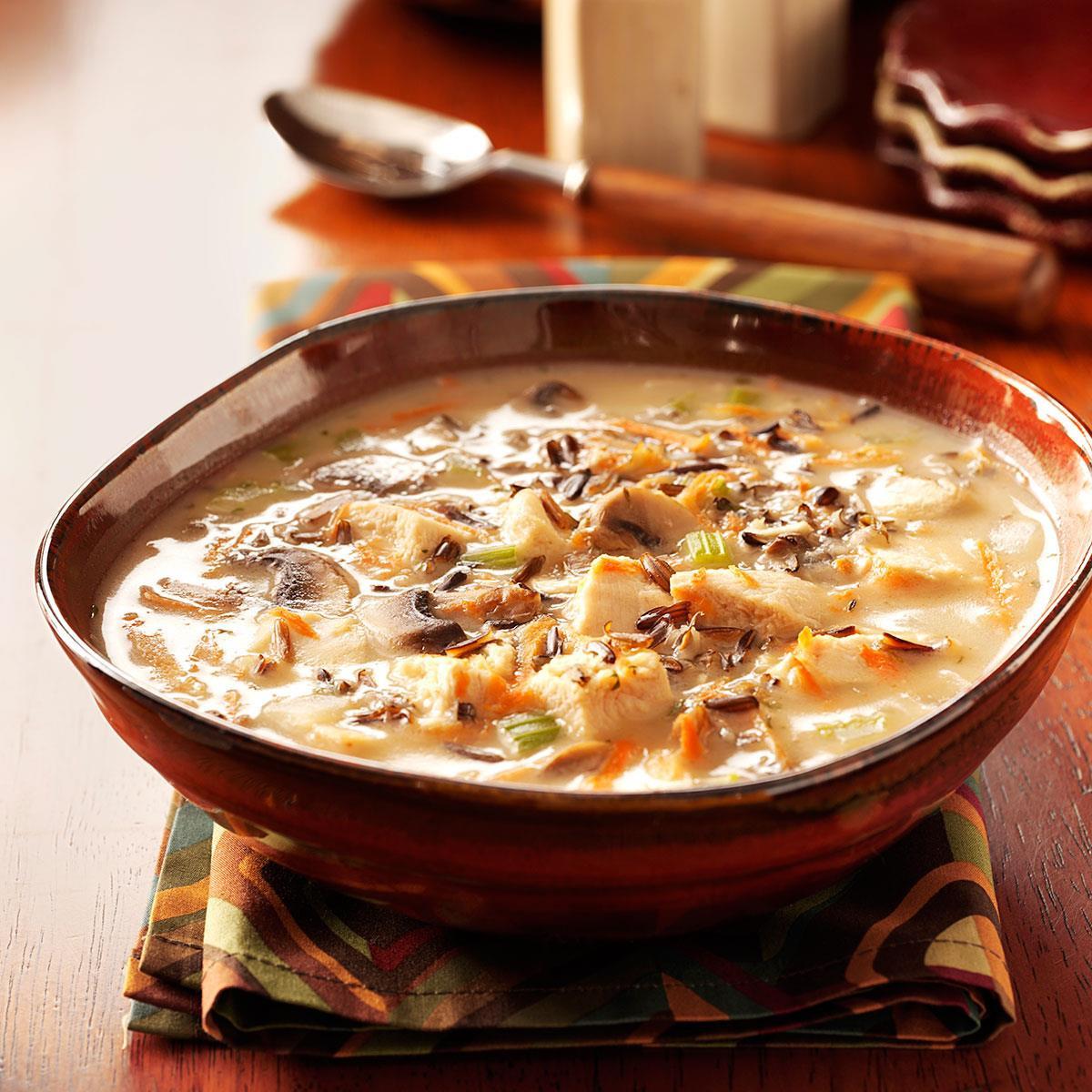 Chicken And Wild Rice Soup  Chicken Wild Rice Soup Recipe