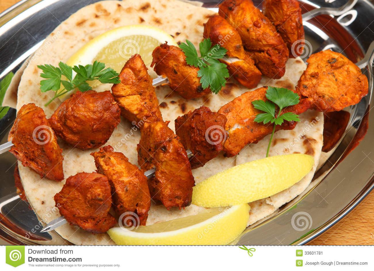Chicken Appetizers Indian  Indian Chicken Tikka Kebabs Stock Image Image of