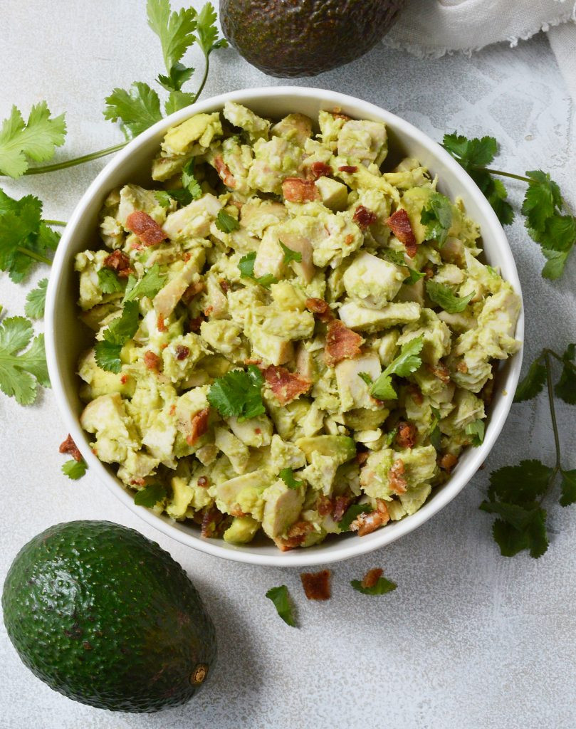 Chicken Avocado Salad  Bacon Avocado Chicken Salad Whole30 Recipe WonkyWonderful