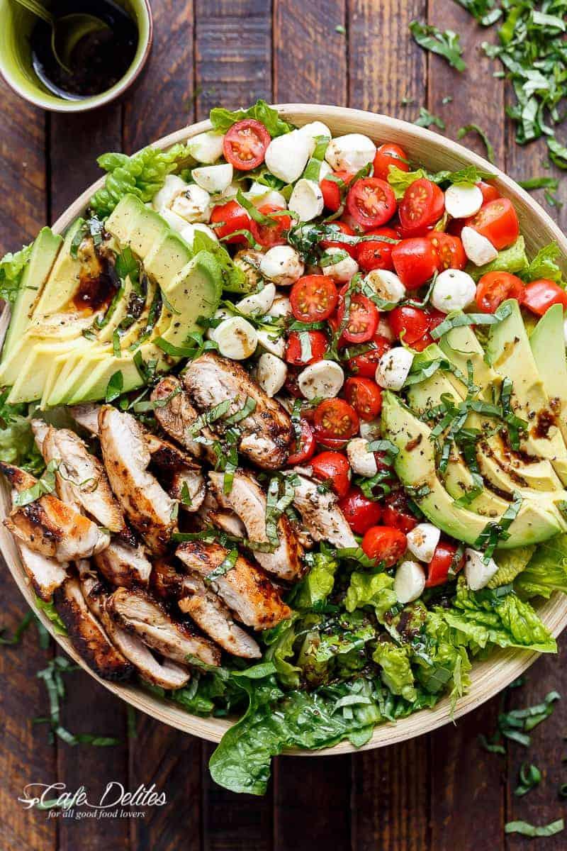 Chicken Avocado Salad  Chicken Avocado Caprese Salad Cafe Delites