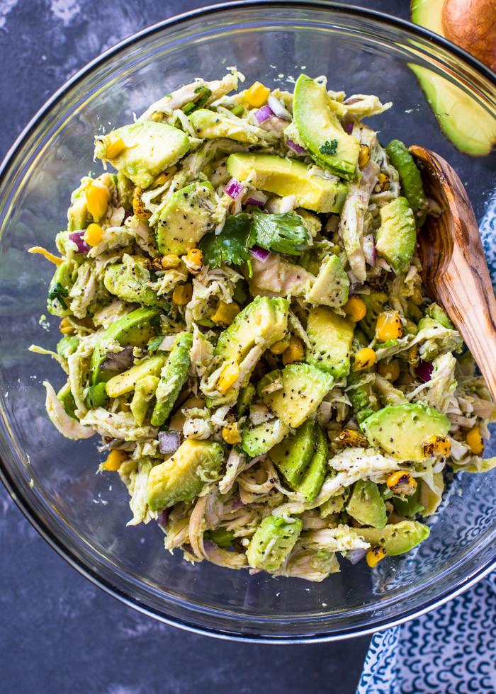 Chicken Avocado Salad  Healthy Avocado Chicken Salad