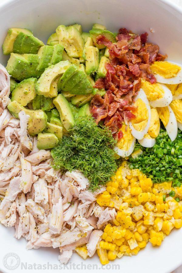 Chicken Avocado Salad  Avocado Chicken Salad Recipe VIDEO NatashasKitchen