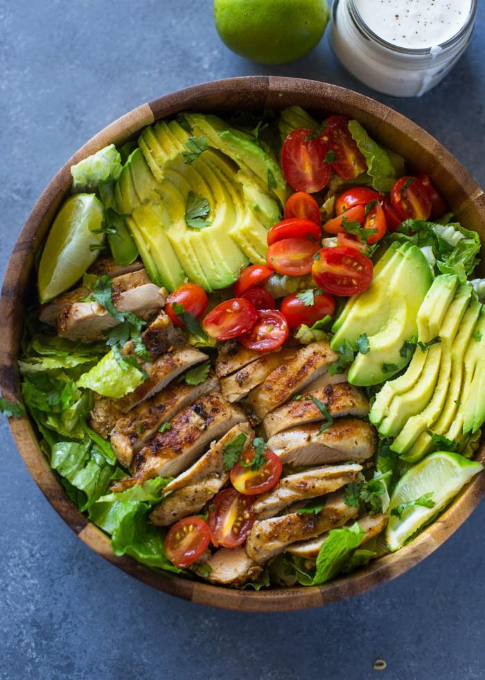 Chicken Avocado Salad  Chicken and Avocado Salad with Skinny Creamy Dressing