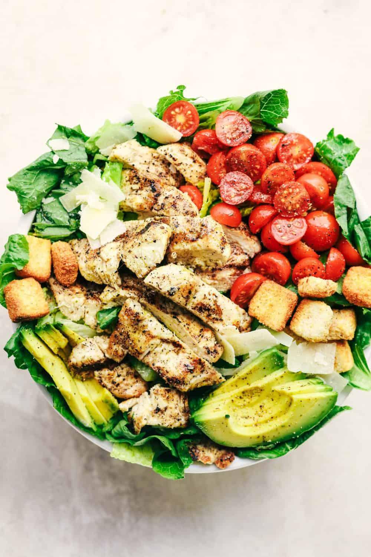 Chicken Avocado Salad  Grilled Chicken Caesar Avocado Salad