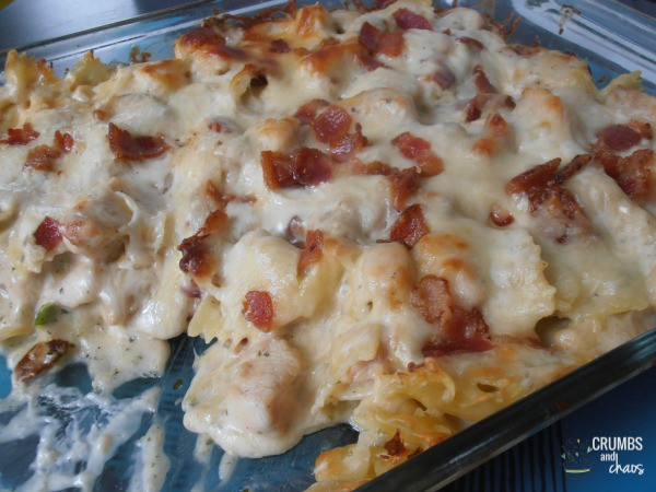 Chicken Bacon Ranch Casserole  Chicken Bacon Ranch Casserole Crumbs and Chaos