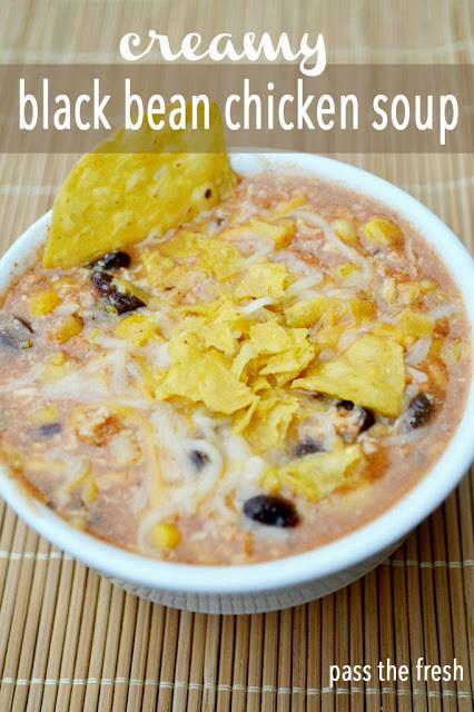 Chicken Black Bean Soup  Pass the Fresh Creamy Black Bean Chicken Soup