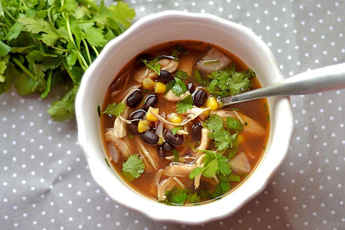 Chicken Black Bean Soup  BBQ Chicken and Black Bean Soup Wholesomelicious