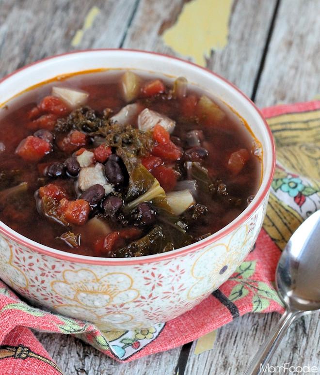 Chicken Black Bean Soup  Kale Bean & Chicken Soup Recipe Mom Foo Blommi