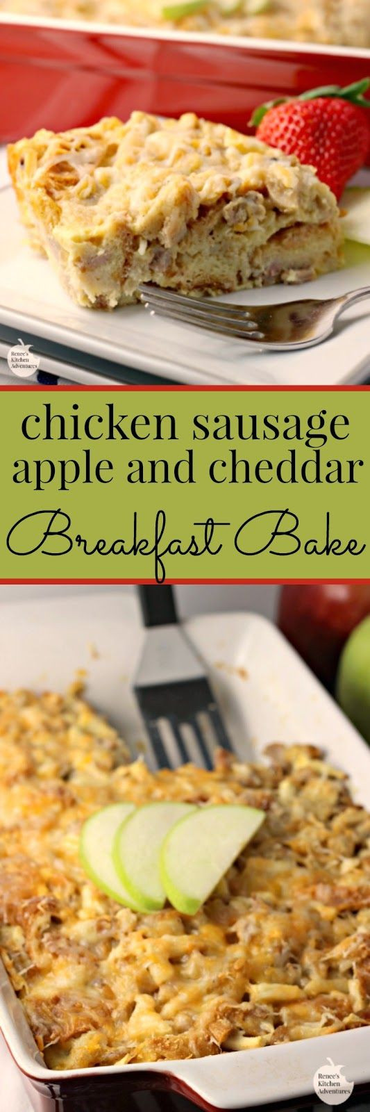 Chicken Breakfast Sausage Recipe  Chicken Sausage Apple and Cheddar Breakfast Bake