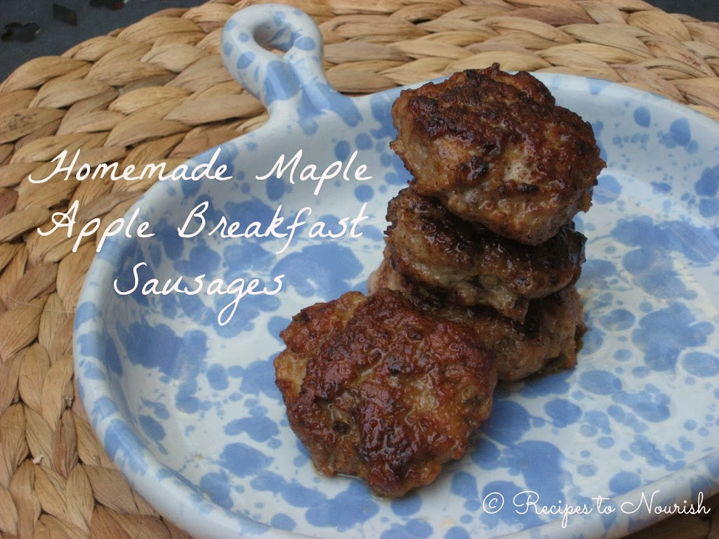 Chicken Breakfast Sausage Recipe  Homemade Maple Apple Chicken Breakfast Sausages Recipes