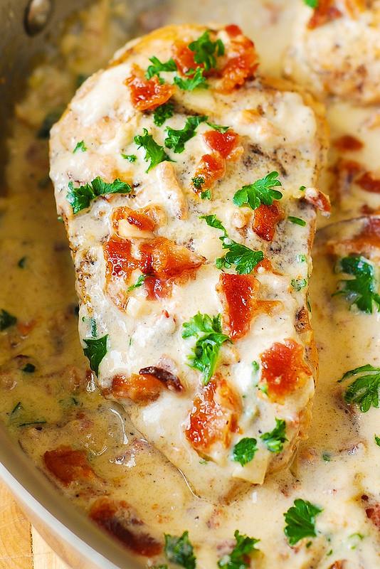 Chicken Breast Dinner Ideas  Asiago Chicken with Bacon Cream Sauce Julia s Album