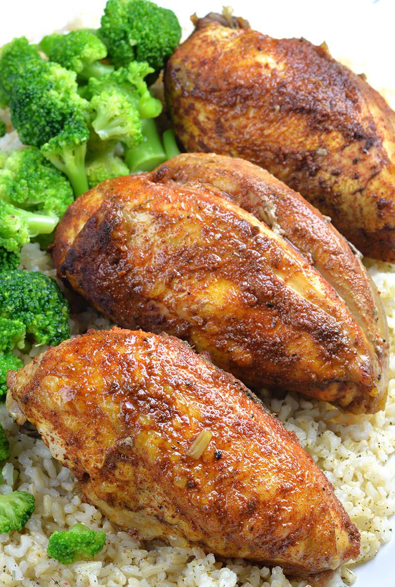 Chicken Breasts In Slow Cooker  Healthy Slow Cooker Chicken Breast Recipe OMG Chocolate