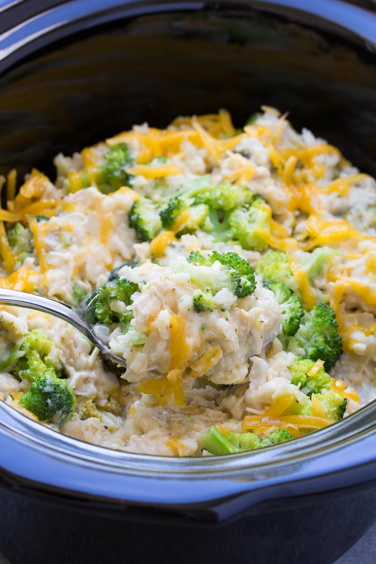 Chicken Broccoli And Rice  Slow Cooker Chicken Broccoli and Rice Casserole