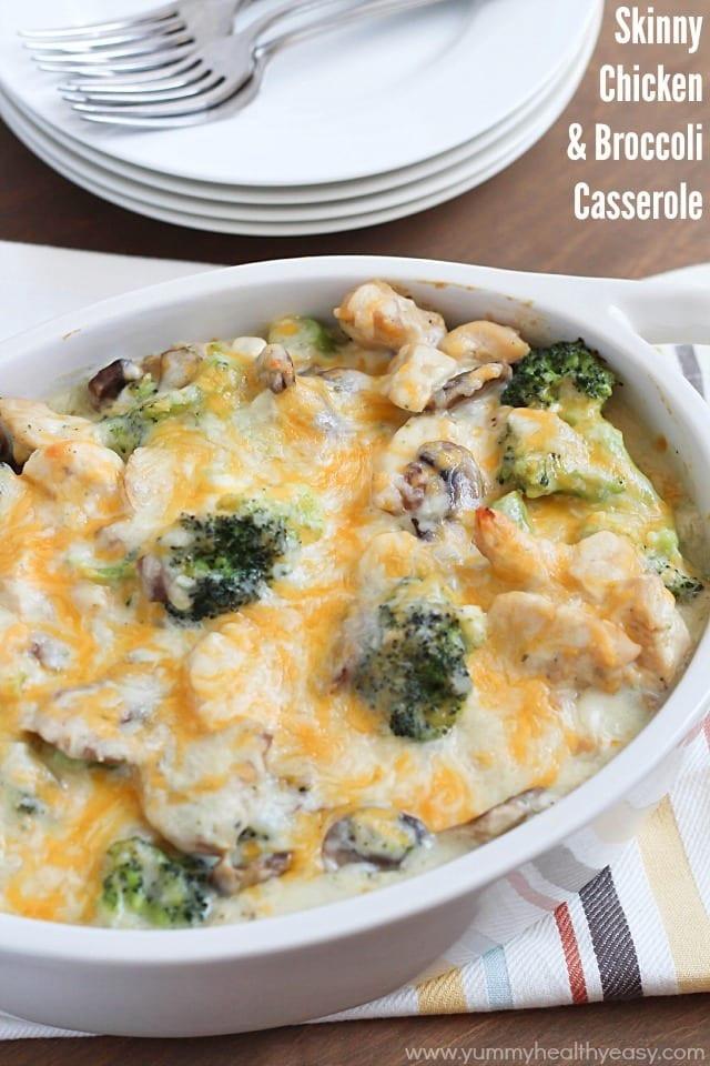 Chicken Broccoli Casserole Recipe  Skinny Chicken & Broccoli Casserole Yummy Healthy Easy