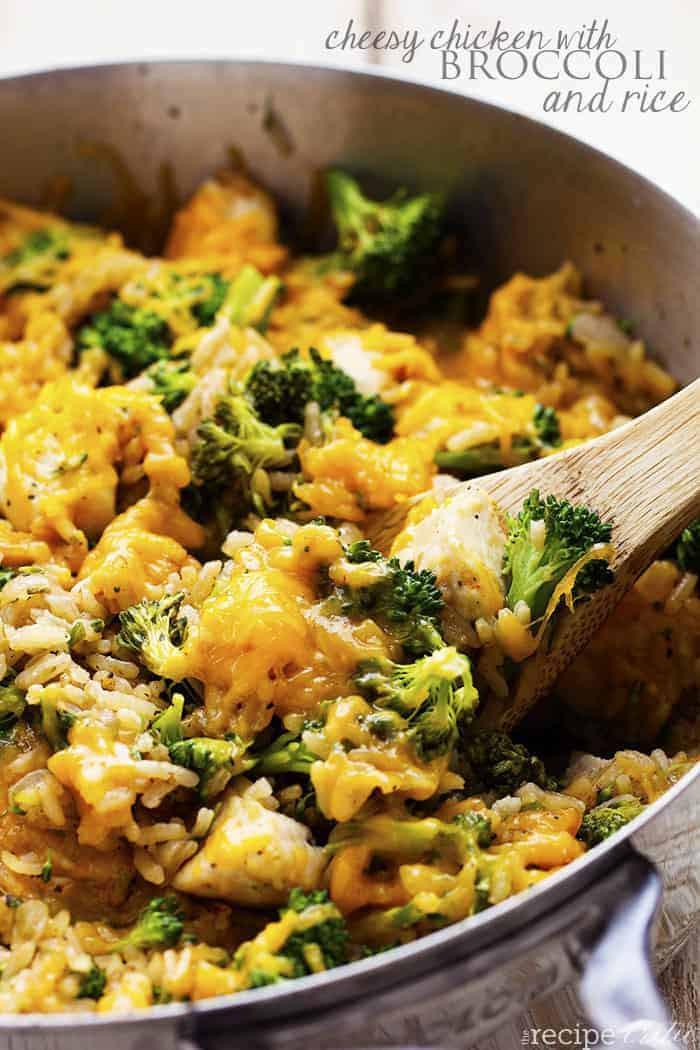 Chicken Broccoli Recipe  e Pan Cheesy Chicken with Broccoli and Rice