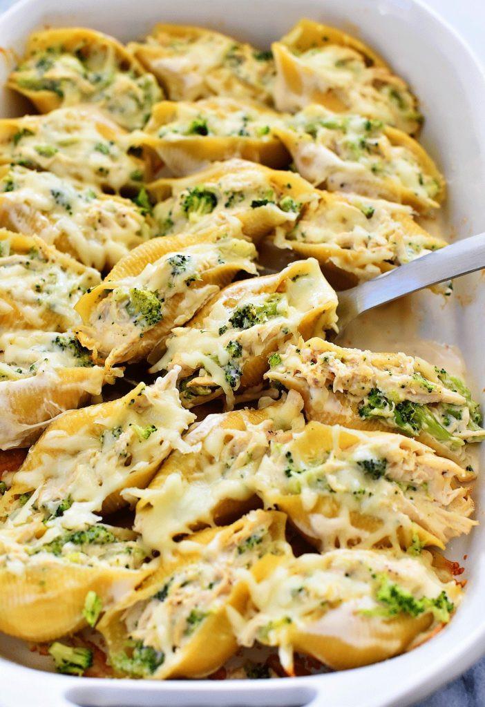 Chicken Broccoli Recipe  Chicken & Broccoli Alfredo Stuffed Shells Life In The