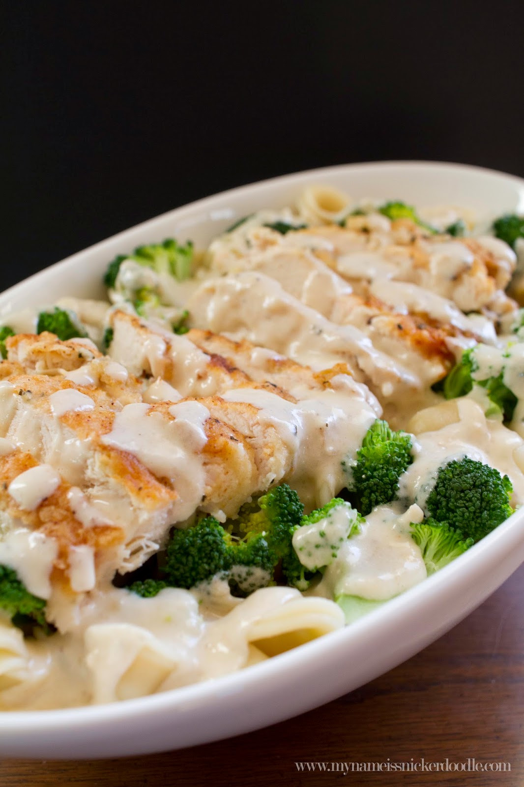 Chicken Broccoli Recipe  Creamy Garlic Chicken and Broccoli Pasta My Name Is
