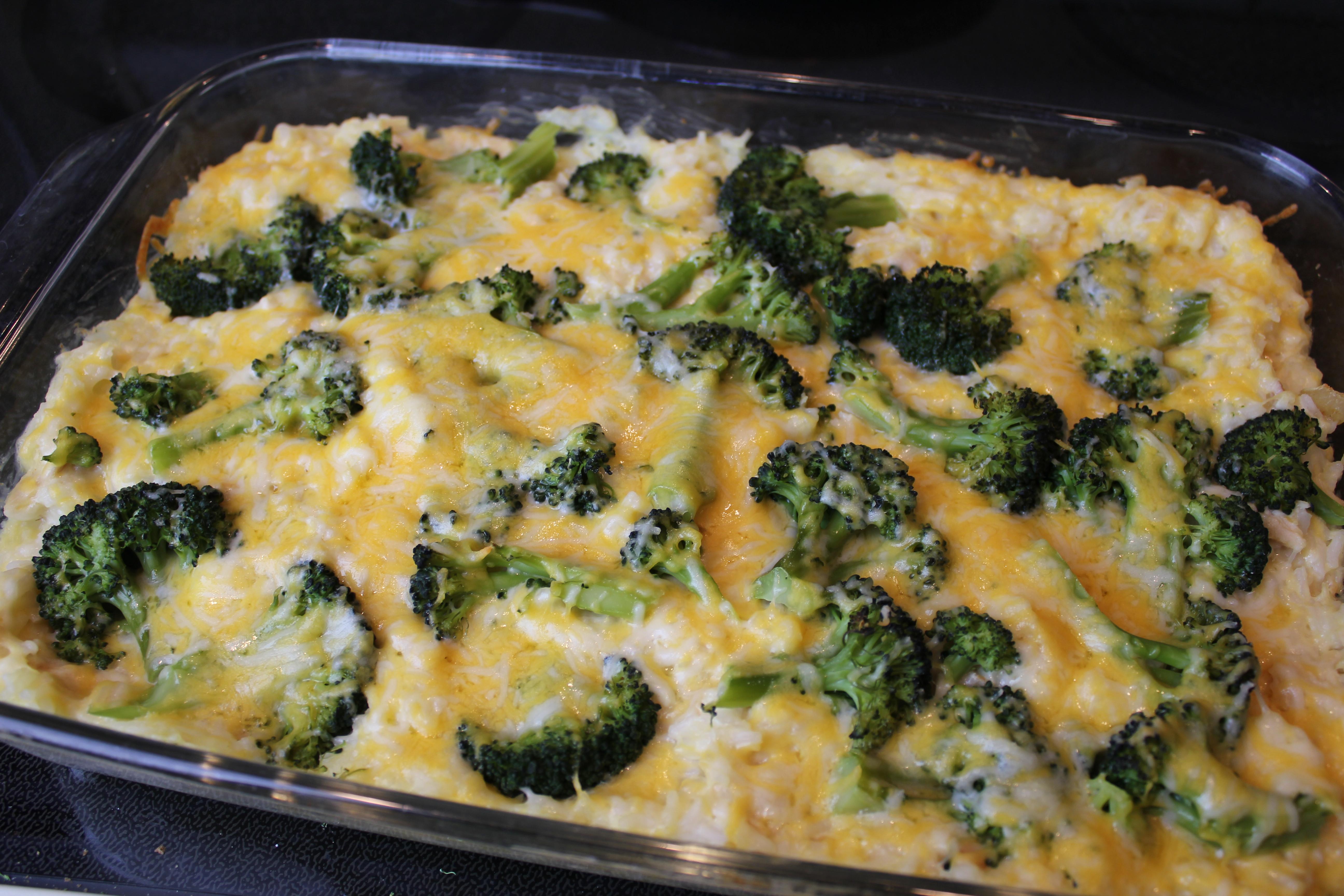 Chicken Brocolli And Cheese Casserole  Recipe Chicken Broccoli Rice Bake