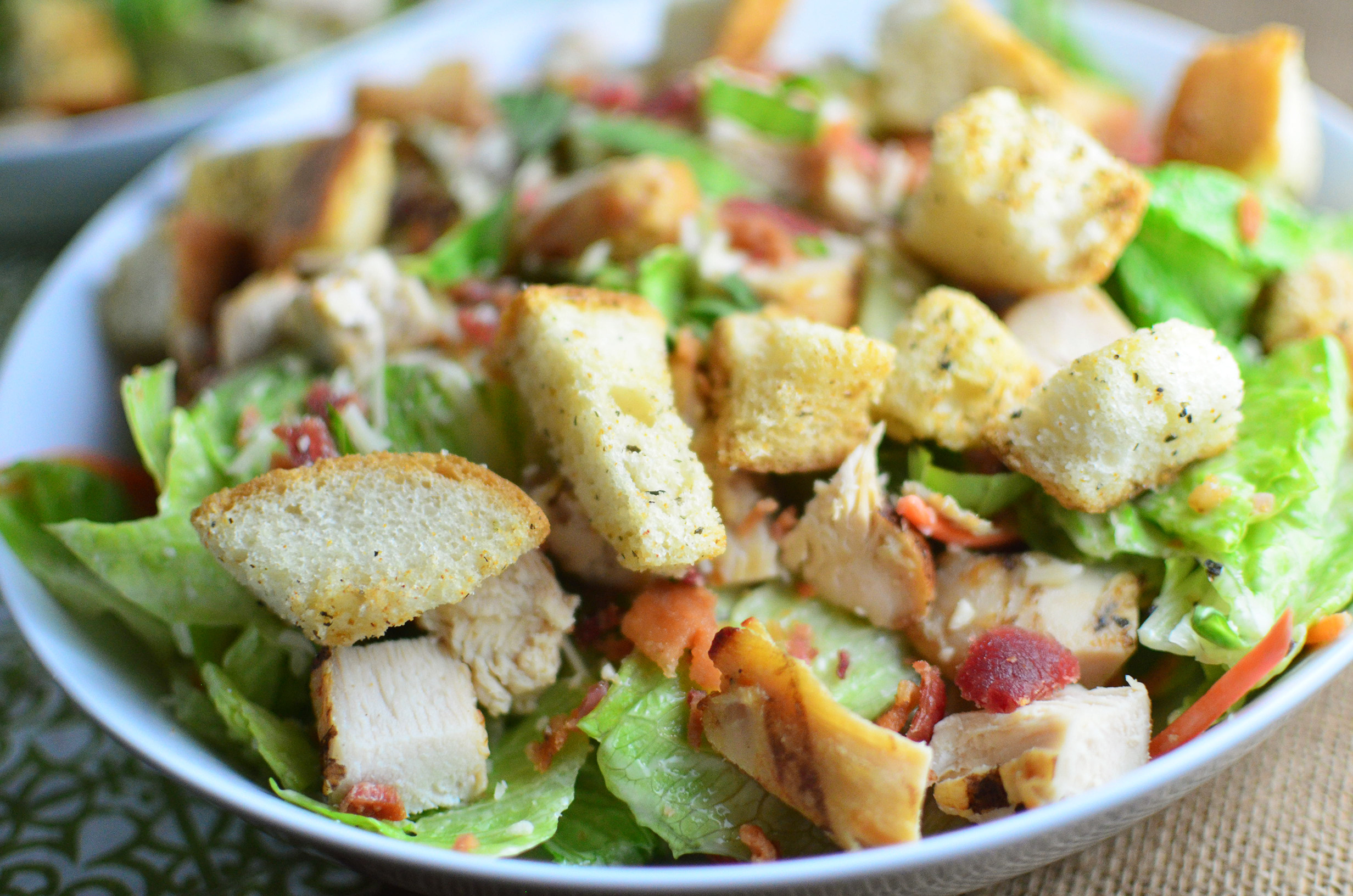 Chicken Caesar Salad  Chicken Caesar Salad with Homemade Croutons Simple