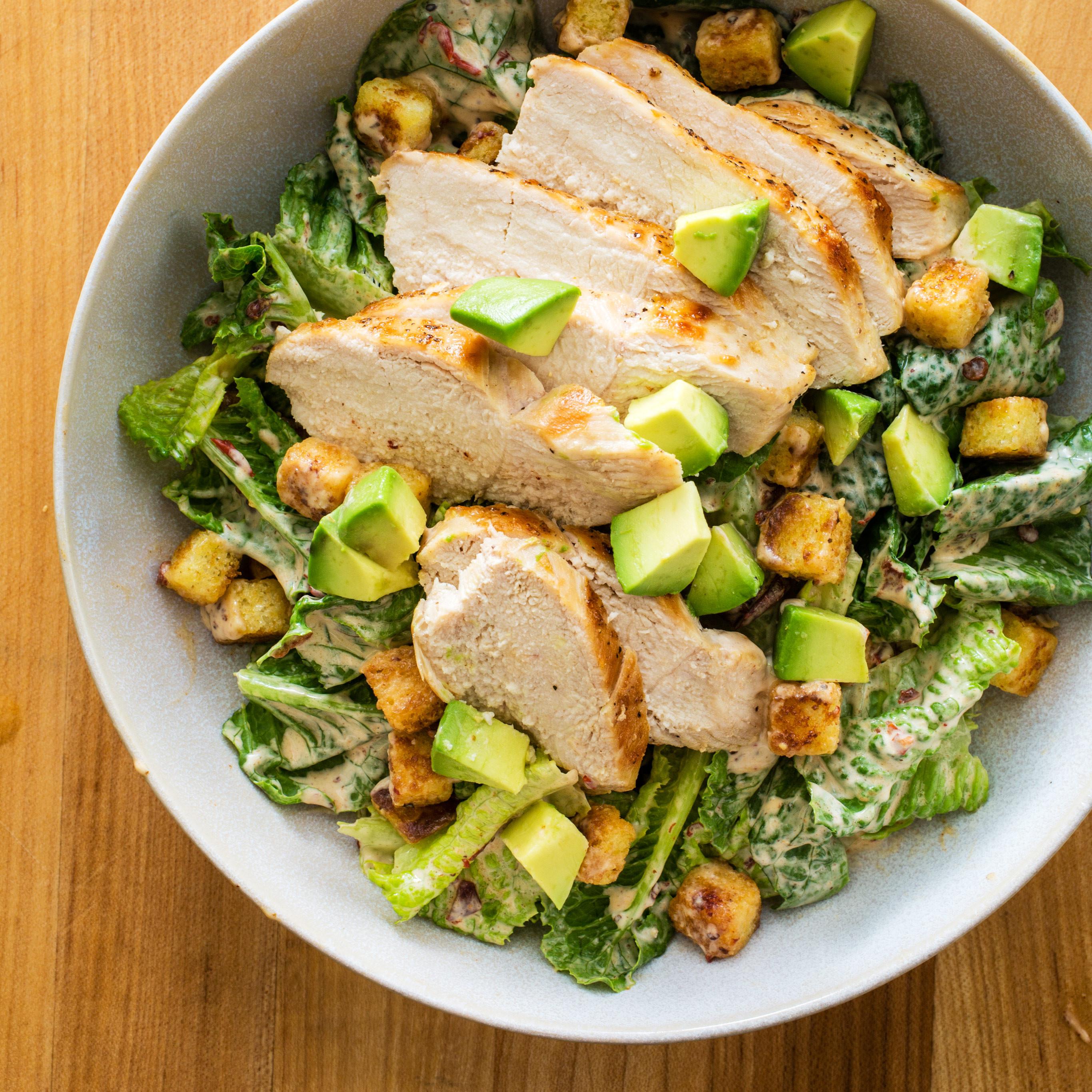 Chicken Caesar Salad  Chipotle Chicken Caesar Salad