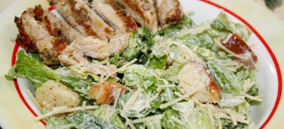 Chicken Caesar Salad Calories  Low Calorie Grilled Chicken Caesar Salad LindySez