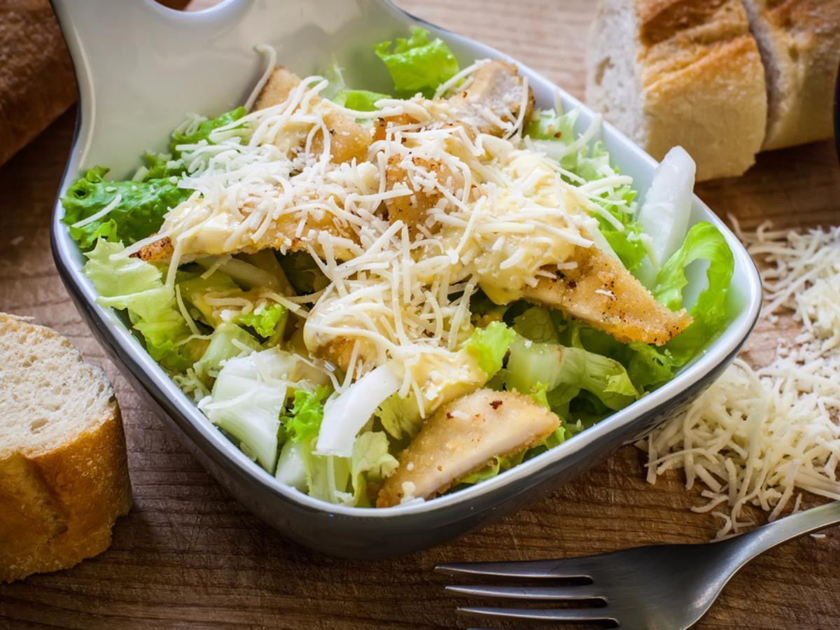 Chicken Caesar Salad Calories  Chicken caesar salad Recipe and Nutrition Eat This Much