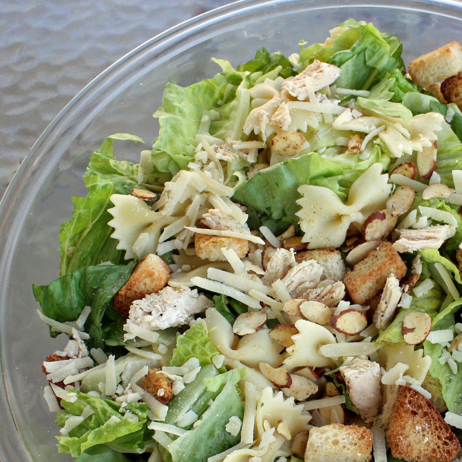 Chicken Caesar Salad  Bowtie Chicken Caesar Salad The Girl Who Ate Everything