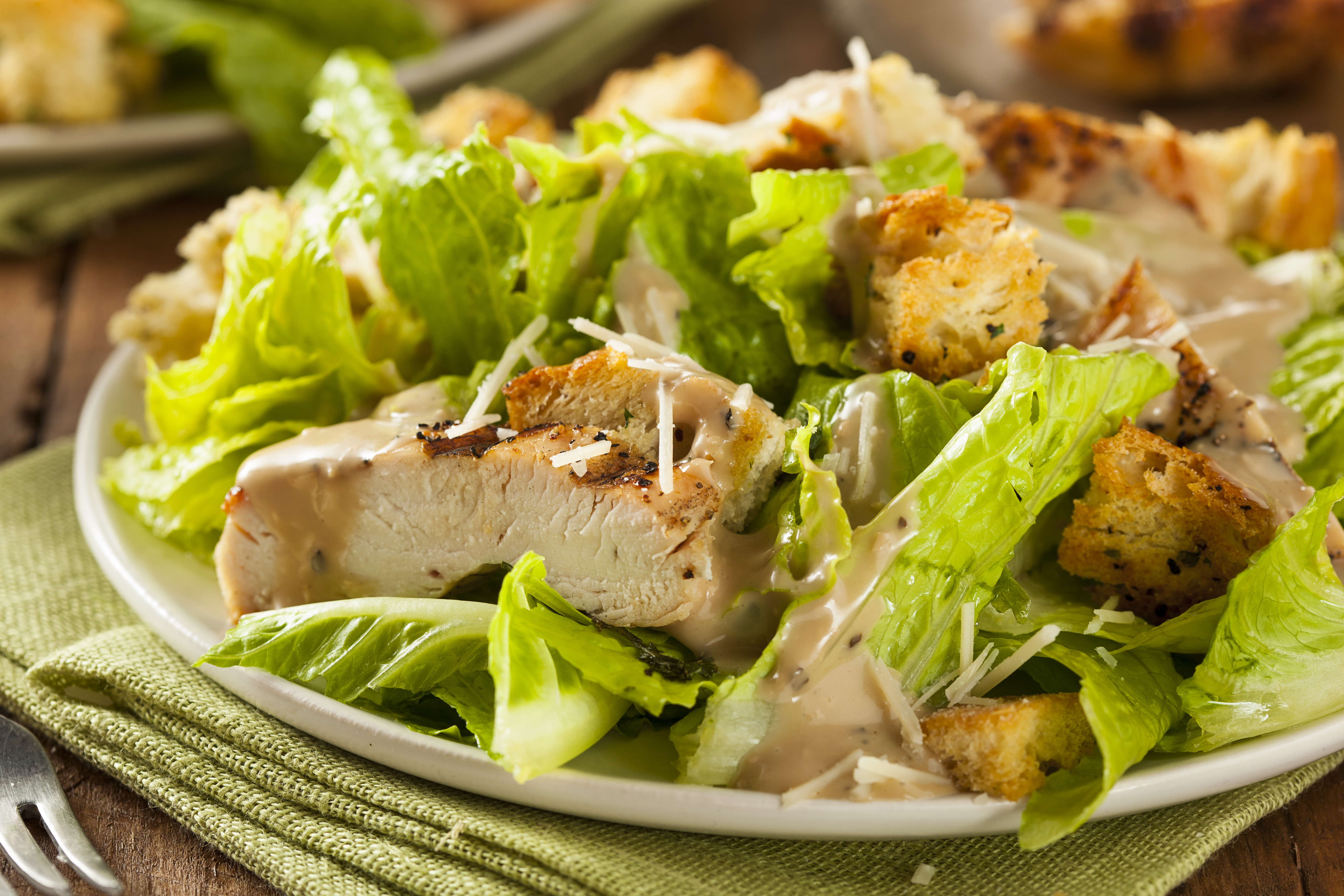 Chicken Caesar Salad  Chicken Caesar Salad Recipe with Homemade Croutons