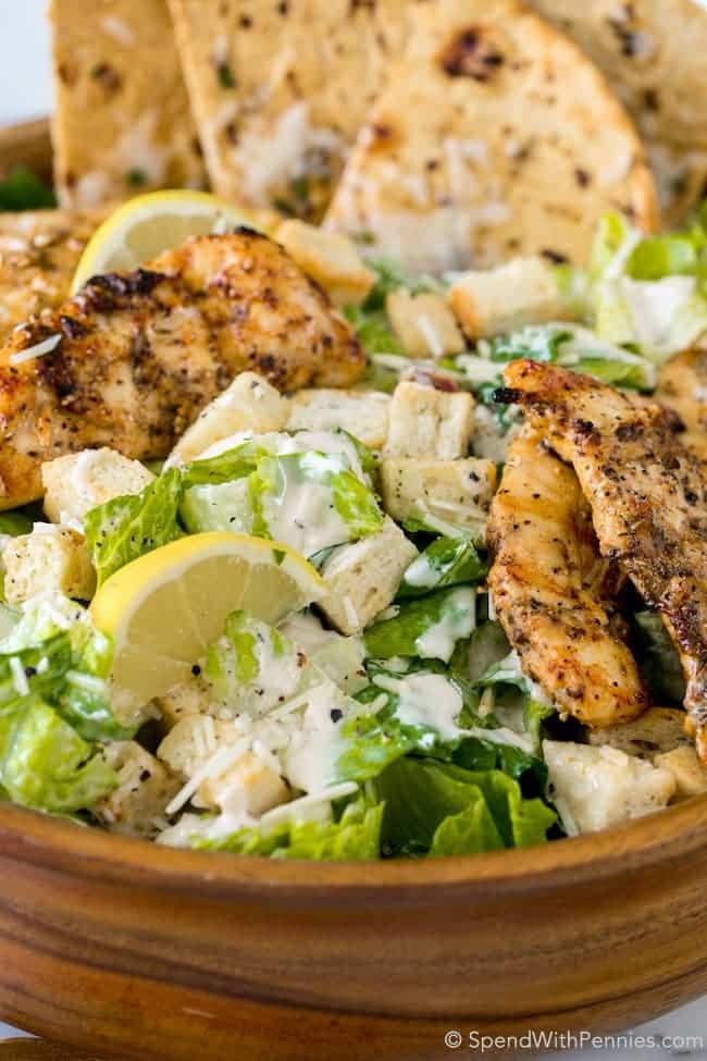 Chicken Caesar Salad  Grilled Chicken Caesar Salad with Garlic Parmesan