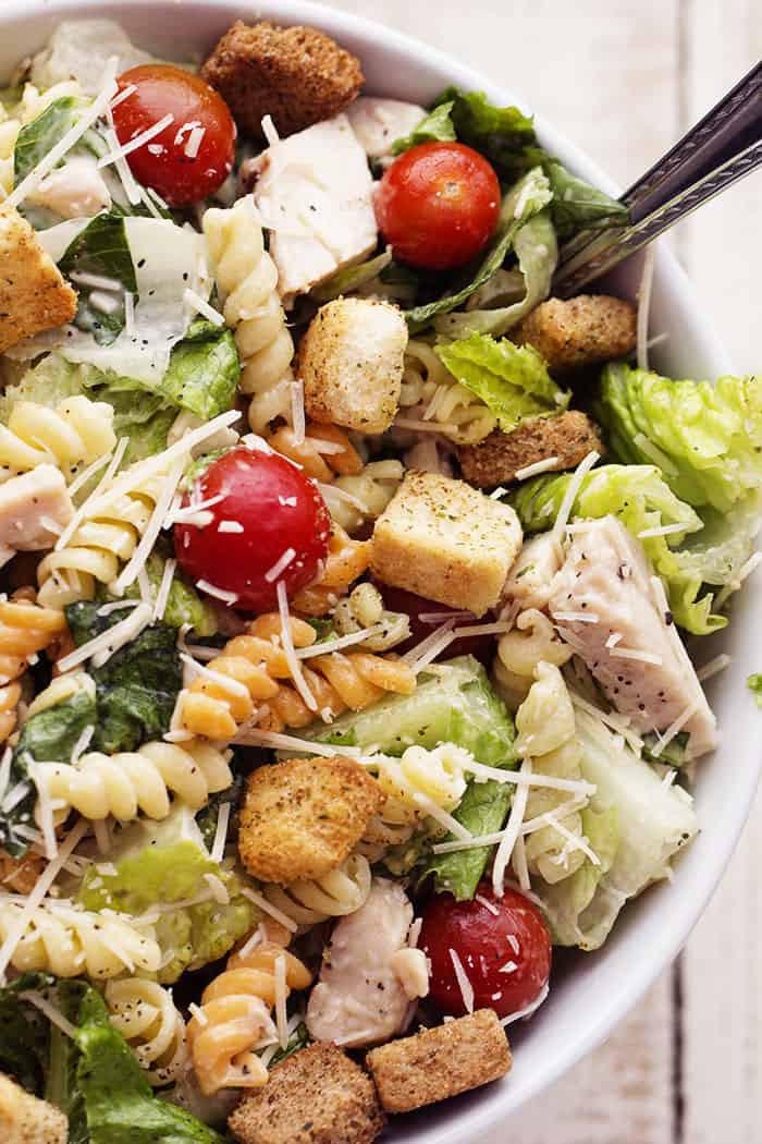 Chicken Caesar Salad  Chicken Caesar Pasta Salad